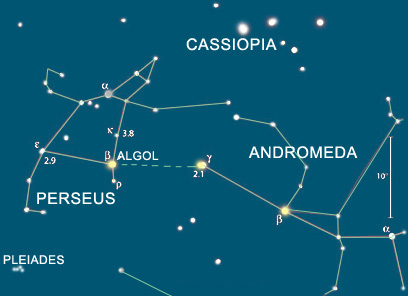 Perseus, Cassiopeia, and Andromeda Constellations