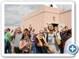 Visitors were thrilled to see the solar eclipse in Albuquerque at UNM Campus Observatory.