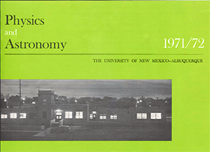 Physics and Astronomy Department Brochure 1971-72