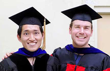 Jacob Miller and Dissertation Director Akimasa Miyake