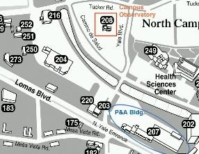 Unm North Campus Map ASTRONOMY 101: UNM Campus Observatory Information